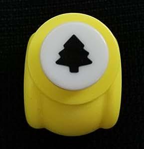 Fascola 迷你纸质手工打孔卡片剪贴簿雕刻儿童裁剪 DIY 手工打孔器 节日纸和贺卡 3 个装随机颜色 圣诞树 unknown
