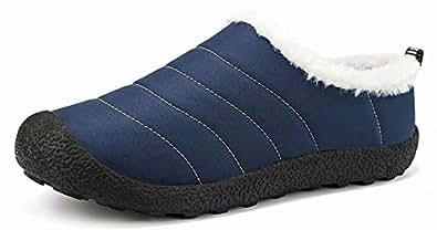 维恩克 一脚蹬棉鞋 驾车鞋 旅游鞋 户外鞋子潮鞋板鞋 懒人鞋套脚帆布鞋舒适鞋子耐磨 防滑 防水117低帮-深蓝色35