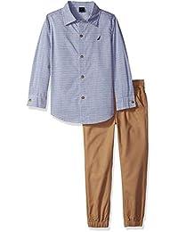Nautica 集 khq) 男孩2件衬衫裤子套装