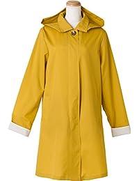 because 立领 雨衣 全3色 黄色 均码 防水加工 带收纳袋 连帽可拆装式 BE-77006