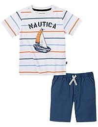 Nautica 套装 (KHQ) 男孩短袖 T 恤