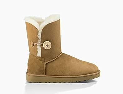 UGG Australia BAILEY BUTTON II 2代防水防滑女士 女靴 羊毛 雪地靴 红棕色 Size36 (亚马逊自营 保税区发货)