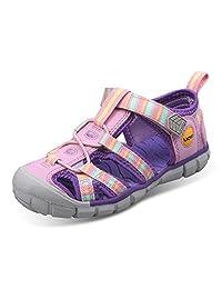 UOVO 优沃 童鞋新款夏季包头儿童凉鞋男童女童镂空中小童宝宝沙滩鞋 跨境热销 虹【请参照图片中的尺码表选购】