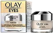 Olay 玉蘭油 眼霜,含煙酰胺,可消除黑眼圈,皺紋和浮腫,15毫升,0.4盎司(約11.33克)