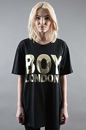 BOY LONDON 中性 T恤 1013026 黑色/金色 M