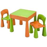 5合1活动桌和椅子带纸板及上衣 / LEGO / 沙 / 水 / 存储,绿色 / 橙色