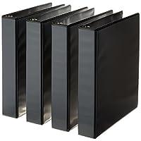 AmazonBasics Round ring Binder - 1.5 inch - Black - 4pack