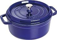 Staub 琺寶 琺瑯鑄鐵鍋 圓形燉鍋 24cm 寶石藍