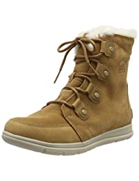 Sorel 女士探险家靴子 Joan 靴子 Braun/Wei? (Camel Brown/Ancient Fossil) 37 EU