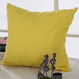 deconovo 超软家居装饰手工制作枕头靠垫套带隐形拉链