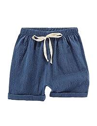 JanLEESi 幼儿男婴短裤及膝短裤哈伦裤