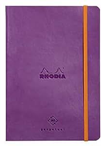 Rhodiarama 一页式记事本 A5 银色 cf117181 紫色