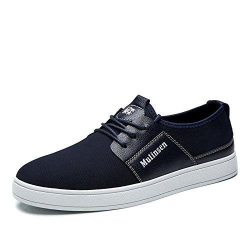 木林森 英伦系带低帮男士板鞋休闲鞋 男款复古滑板鞋单鞋时尚帆布鞋 男鞋子