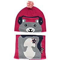 Columbia 儿童 Snow More 无檐小便帽和绑腿套装,幼儿, Cactus Pink Bear One Size