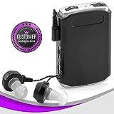 MEDca 声音放大器 - 口袋声音增强器设备,带双麦克风/耳加附加耳机和麦克风套装,个人声音放大器设备