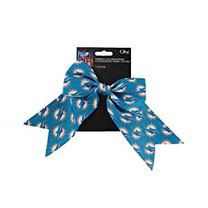 Offray 1-Piece NFL Miami Dolphins Printed Logo Bow