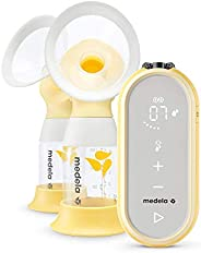 Medela 美德乐 Freestyle Flex,电动双瓶吸奶器,带有App控制及USB连接,可移动式使用,简单方便,更短时间/更多吸奶