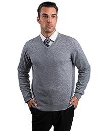 JENNIE LIU ******羊绒男士长袖V领套头羊绒衫