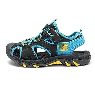 VOCANU TRE 英国 包头凉鞋童鞋 男童鞋 儿童拖鞋 宝宝鞋 休闲童鞋 儿童鞋 学生鞋 深灰=湖蓝 39