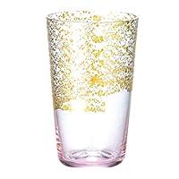 Toyo Sasaki Glass 江户玻璃 金箔玻璃 玻璃杯 日本制造 粉色・金色 100ml 10922PK