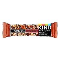 KIND Bars 黑巧克力棒,肉桂山核桃,无麸质,低糖,1.4 盎司(约 39.7 克),12计