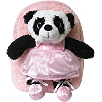 Kreative Kids 可爱粉色芭蕾小熊猫毛绒背包,带闪亮*和可拆填动物