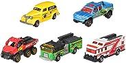 matchbox 应急系列礼品5-pack 1:64比例收藏铸铁玩具金属玩具车模型