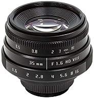 Arducam C 型安装镜头,适用于覆盆子 Pi 相机 F1.6 Mirrorless C-Mount Lens