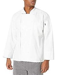 Chef Code 男士黑色装饰经典行政厨师大衣