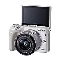 佳能Canon EOS M3 15-45mm微单反相机 高清自拍数码相机 (官方标配, 白色)