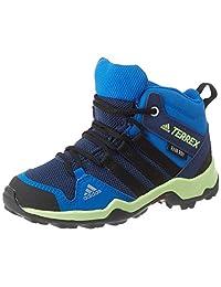 adidas 阿迪达斯 中性儿童 Terrex AX2R Mid CP 步行鞋,学院*蓝/核心黑/亮蓝,30 EU