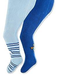 Playshoes 婴儿弹性保温软管艾斯巴尔/白琴紧身裤(2 个装)