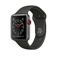 Apple Watch Series 3 智能手表 42mm GPS + 蜂窝网络 深空灰色铝金属表壳 灰色运动型表带 MR342CH/A