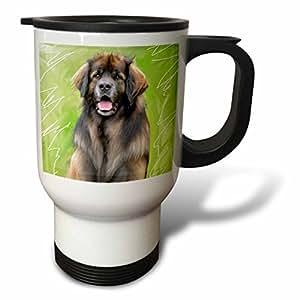 Dogs Leonberger - Leonberger Portrait - Travel Mug Dogs Leonberger - Leonberger Portrait - Travel Mug 白色 14oz Travel Mug
