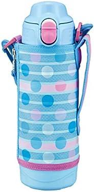 TIGER 虎牌 水杯 500ml SAHARA系列 不銹鋼運動保溫杯 直飲 帶杯子 兩用式 藍點 MBO-H050AT