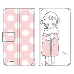 caho 翻盖保护套超薄翻盖印花外套与少女手机保护壳翻盖式适用于所有机型  コートと少女C 3_ Galaxy Note8 SC-01K