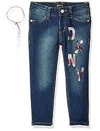 DKNY 女童小弹力牛仔时尚牛仔裤