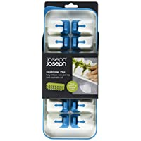 Joseph Joseph 20020 QuickSnap Ice Cube Tray with Cover Lid Easy-Release No-Spill Stackable Odor-Free Dishwasher Safe, Blue 藍色 13 x 5