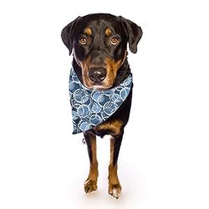 Kess InHouse Julia Grifol 蓝色宠物头巾和围巾,58.42cm x 43.18cm x 43.18cm