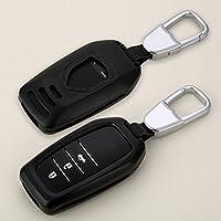 适用于荣放rav4 丰田普拉多雷凌兰德酷路泽新埃尔法汽车钥匙套壳 金属黑 钥匙壳+钥匙扣