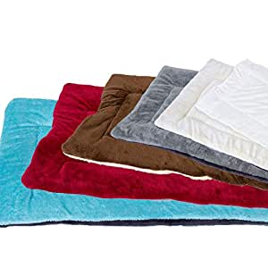 Downtown Pet Supply 舒适宠物狗箱垫和睡垫,床(蓝色、红色、栗色、*、棕褐色、黄褐色、Fiesta - XL 码,L 码,M 码,S 码,XS 码) Brown/Oatmeal X-S