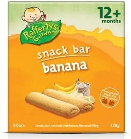 Rafferty 花园水果零食香蕉(12 个月以上)128克