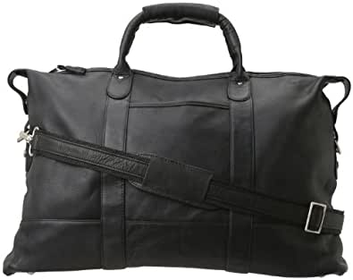Latico Leathers Carriage Duffel Bag 100% Genuine Authentic Luxury Leather Designer Fashion Top Quality Leather Black