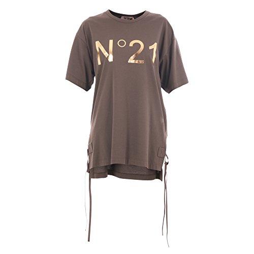 女人做���-yf�[N[ _n°21 n°21 女人 f06141525811 棕色 棉 t恤 / 意大利直邮【亚马逊
