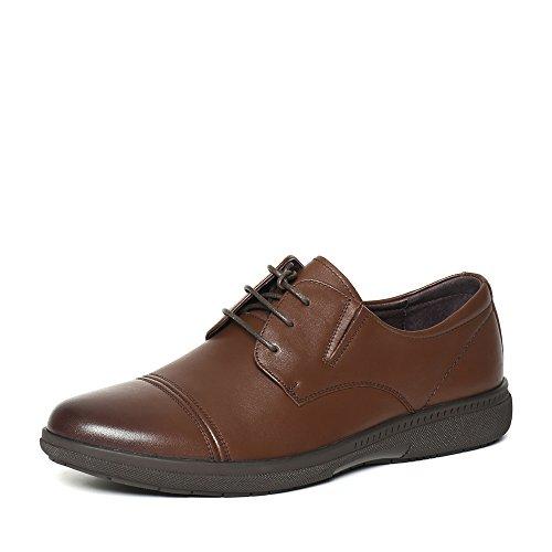 Senda 森达 森达秋季专柜同款打蜡牛皮男鞋 JT105CM6 棕色 41