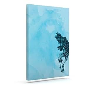 "Kess InHouse Graham Curran""Turtle Tuba III""户外帆布墙艺术 20"" x 24"" GC1007BAC04"