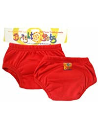 Bright Bots 马桶训练裤(双装,红色,大号,24-30 个月)