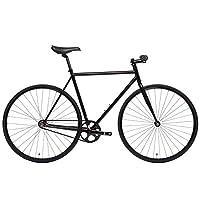State Bicycle 4130 - 哑光黑色 | 双排扣铬钼钢 - 固定齿轮/单速 | 62 厘米升高杆
