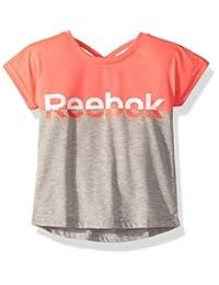 Reebok 女童交叉背拼色T 恤