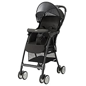 日本 Aprica 阿普丽佳 婴儿推车 魔捷轻风高景观推车(骑士黑) 车重3.0kg(适合7个月-3岁,5点式安全带,坐垫快拆轻松洗,柔软悬浮吸震轮,大容量置物篮)